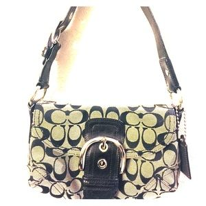 "Coach small purse, black signature ""C""'s"